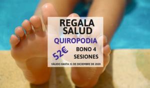Bono sesiones quiropodia en Madrid